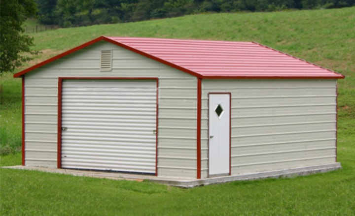 Steel buildings metal garages building kits prefab prices for Prefab one car garage