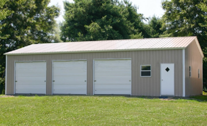 Steel buildings metal garages building kits prefab prices 3 car metal garage kits