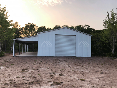 30x50 Garage with Lean-to