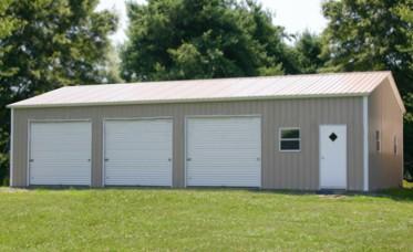 Prefab steel garages metal buildings and garage buildings for Metal 3 car garage