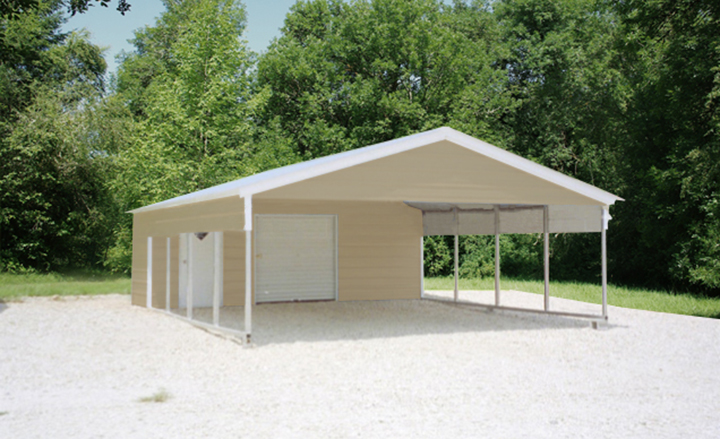 Garage and carport combo photo gallery by eversafe buildings for Garages and carports