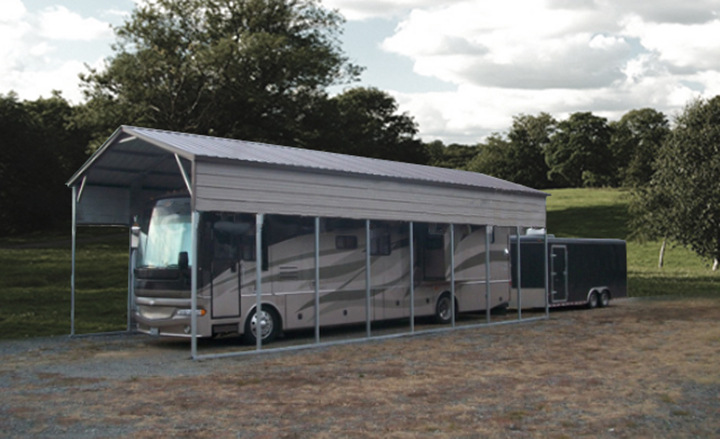 Metal Carports For Campers : Rv storage buildings metal shelters carports