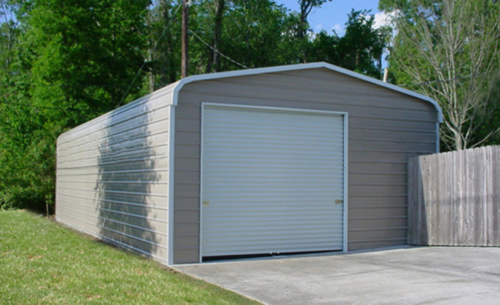 Prefab steel garages metal buildings and garage buildings for One car garage with carport