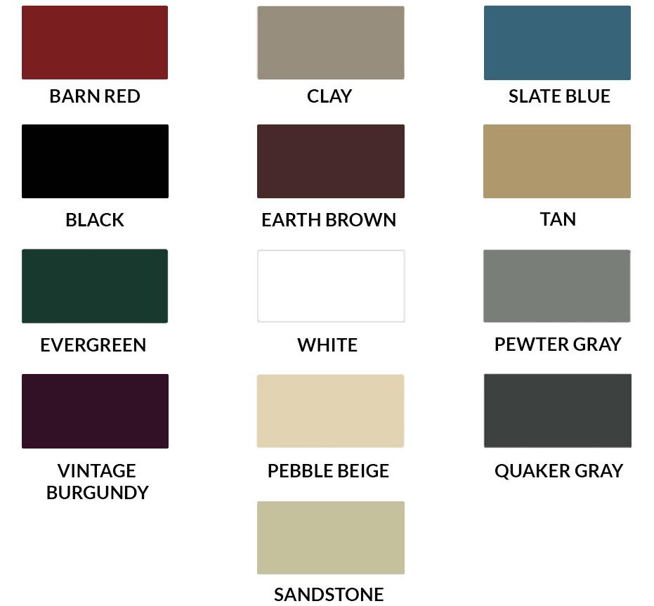 Choose Colors For Garages Barns Metal Storage Buildings
