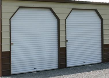 garage door with 45 deg angle cuts