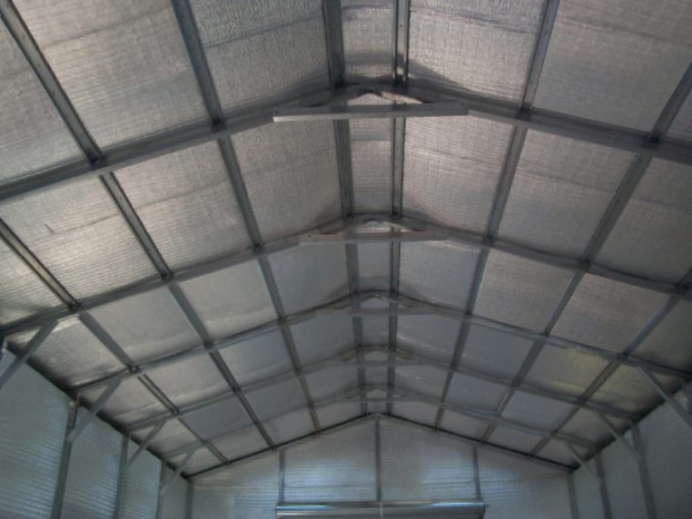 Metal building insulation barn and garage insulation for Garage roofing options
