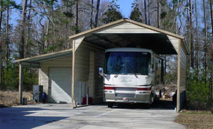 Metal Shelter For Rv Motorhomes : Rv storage buildings metal shelters carports