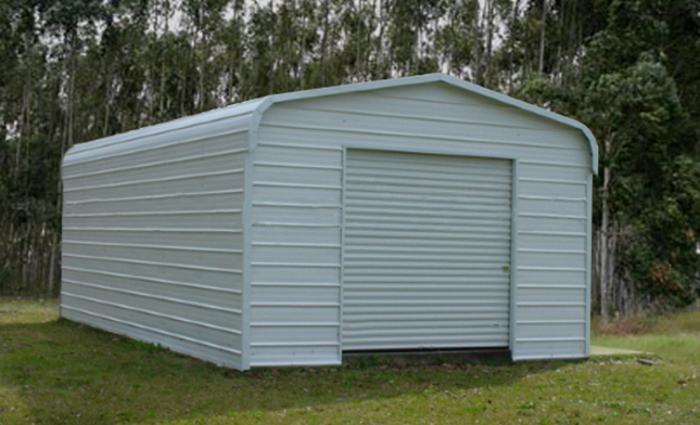 Small steel storage buildings metal sheds backyard for Small metal barns