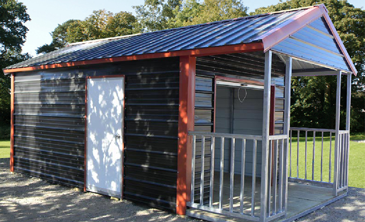 Steel Storage Shelters : Small steel storage buildings metal sheds backyard