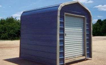 <p>Metal Shed With Regular Roof</p>