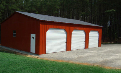 Ocala steel garage buildings metal garages building kits for 3 car garage metal building