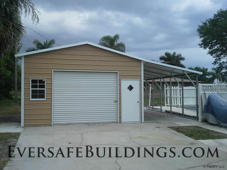 Fort Myers Metal Garage with Carport