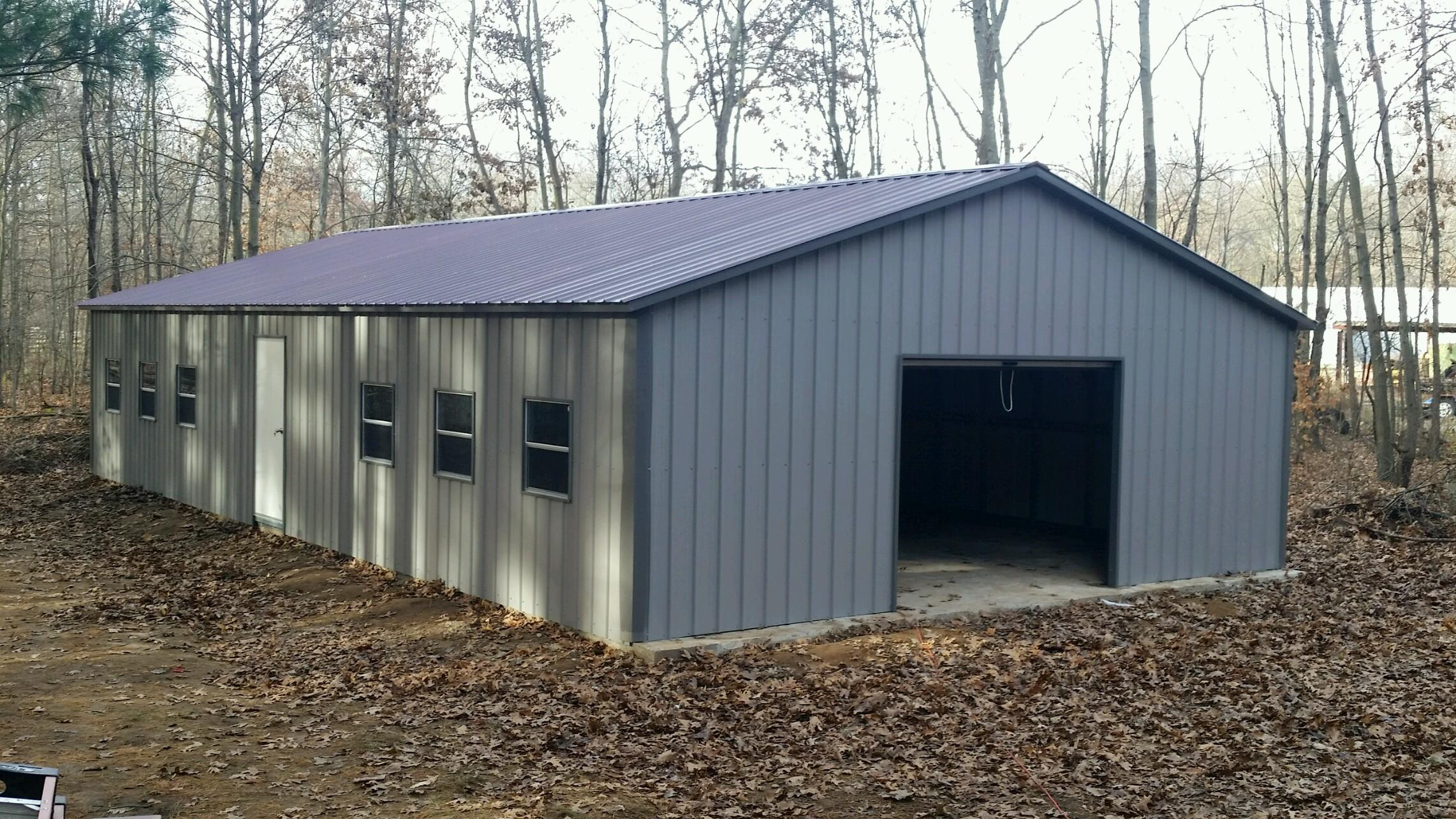 Commercial metal buildings auto repair garage workshop for Garage workshop buildings