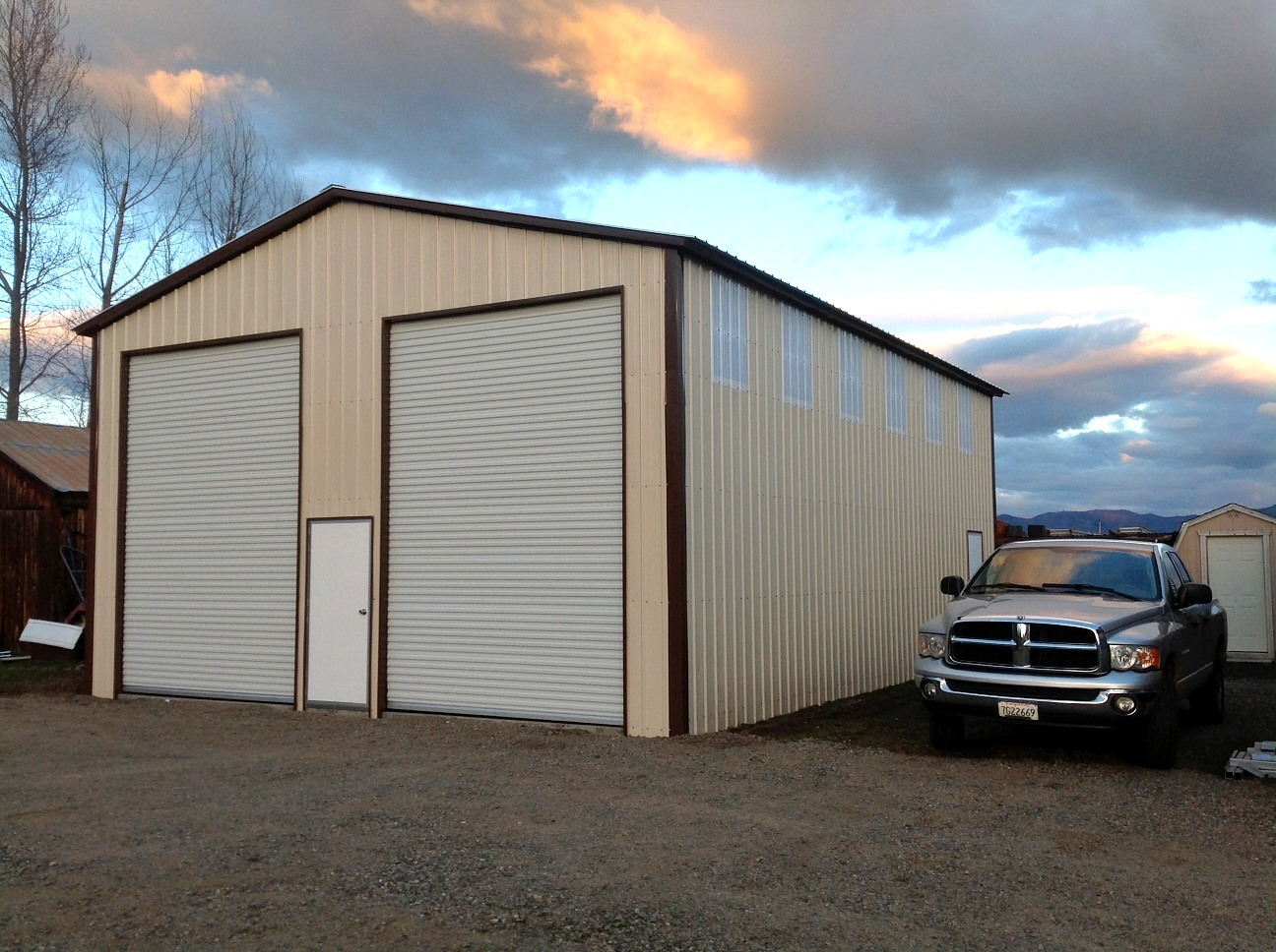 Commercial Steel Garages Inside : Commercial metal buildings auto repair garage workshop