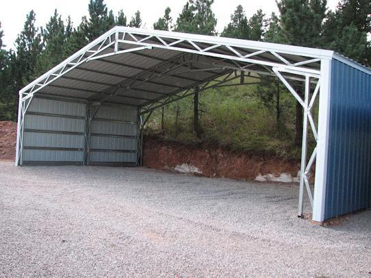 Quality Metal Garage : Commercial metal buildings auto repair garage workshop