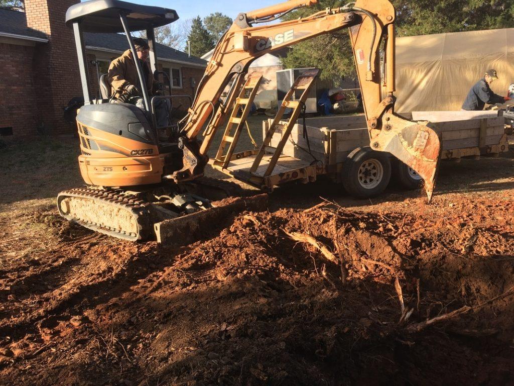 foundation for garage building