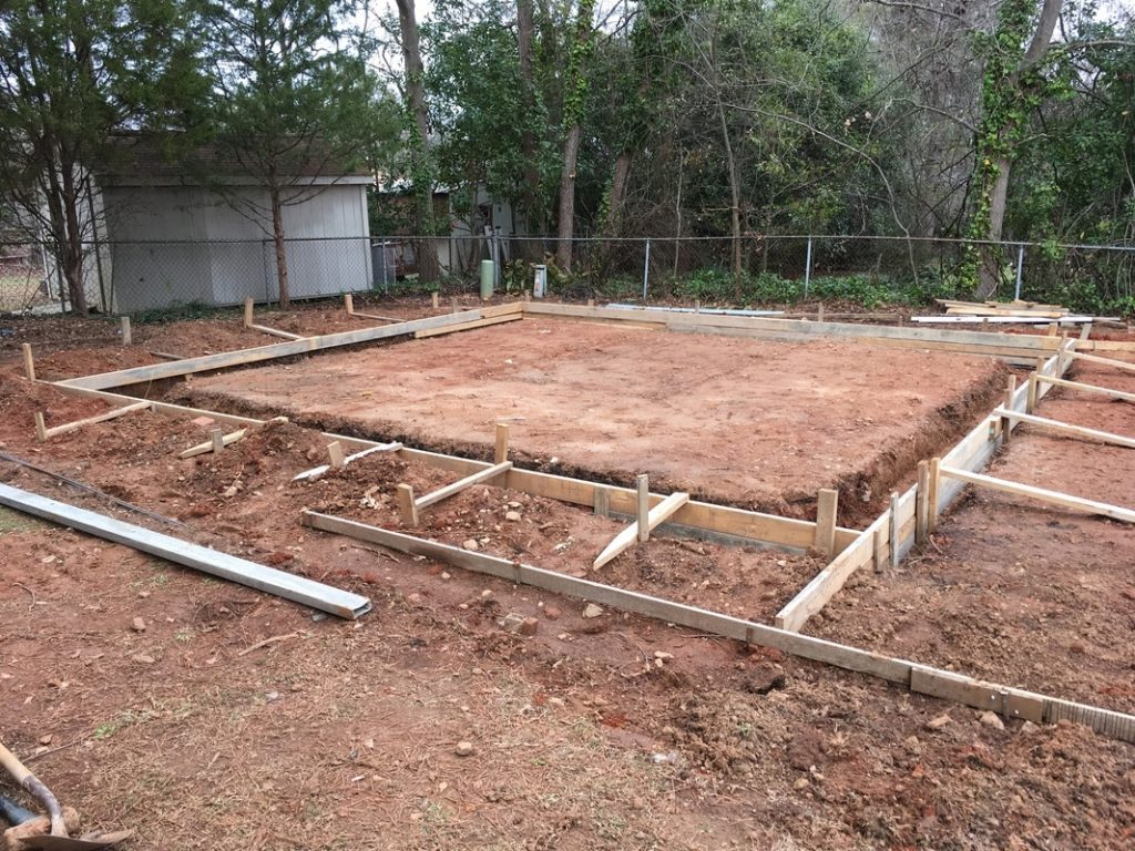 concrete slab steel garage