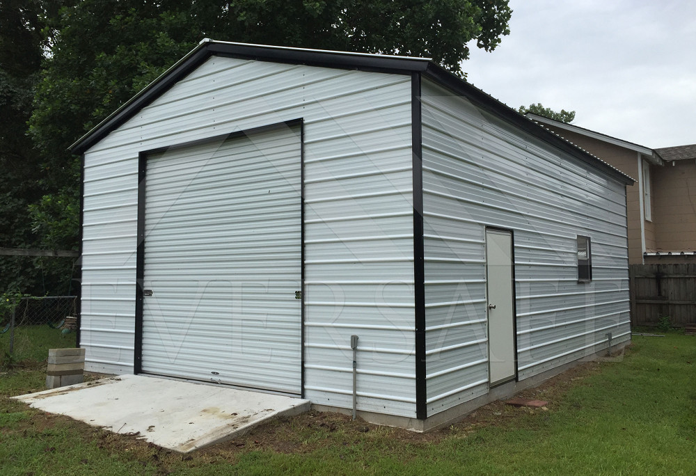 California steel garages factory prices on garage for Metal house kits prices