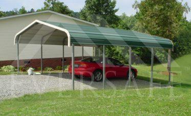<p>Metal Carport with Regular Roof</p>