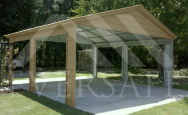 <p>Pavilion Carport With Vertical Roof</p>