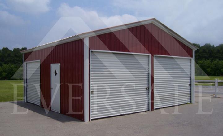 Red 2 Car Garage