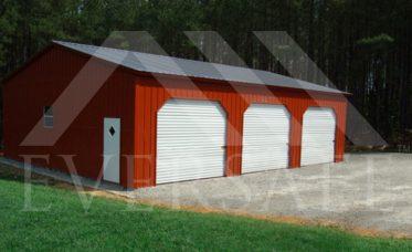 24x35 3 Car Garage