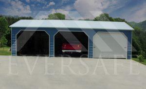 3 Car Metal Garage Kit