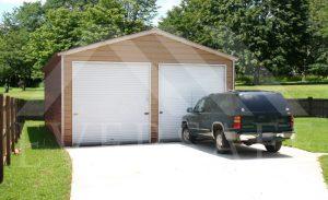2 car prefab garages