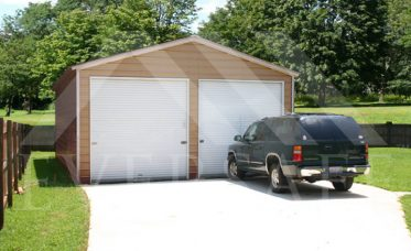 24x30 2 Car Garage