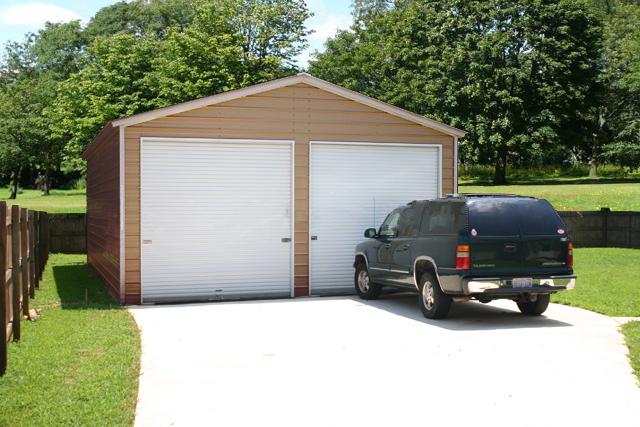 2 car steel garage in Georgia