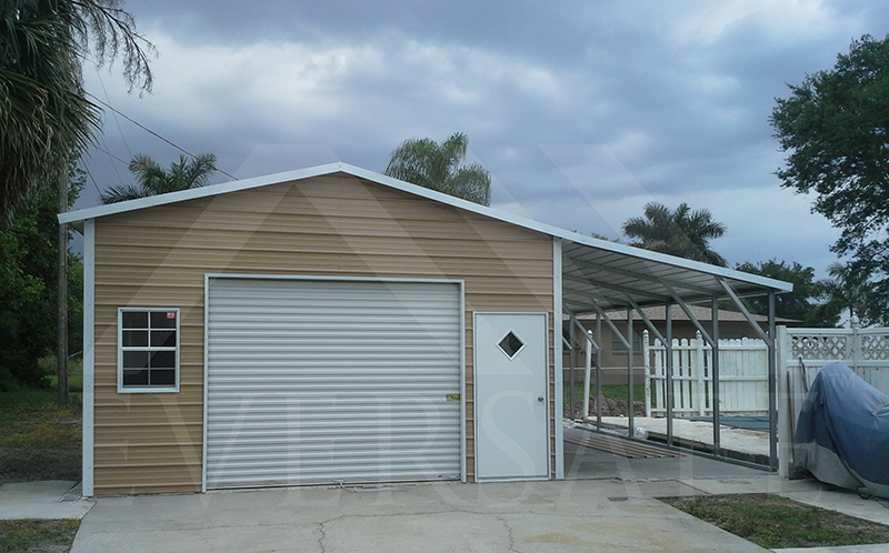 One Car Garage with Lean-To