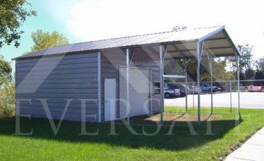 Garage Carport Hybrid