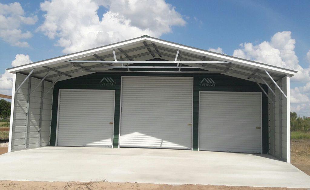 Open Metal Garage