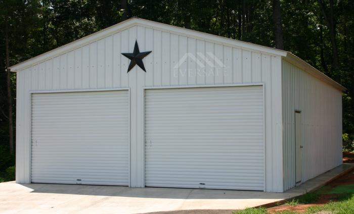 White 30x30 Metal Garages
