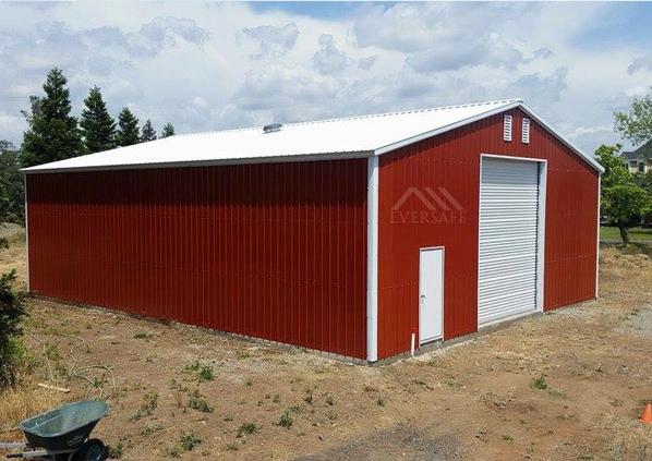 40x60 Red Metal Building