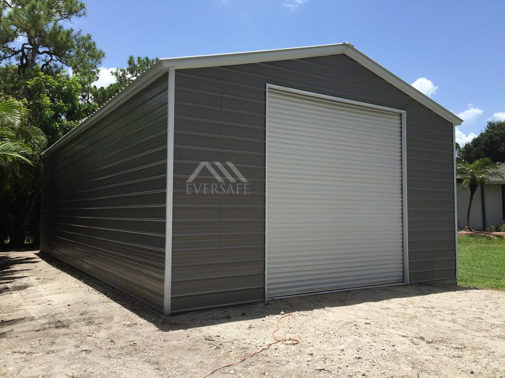 Grey 24x45 Steel Garage