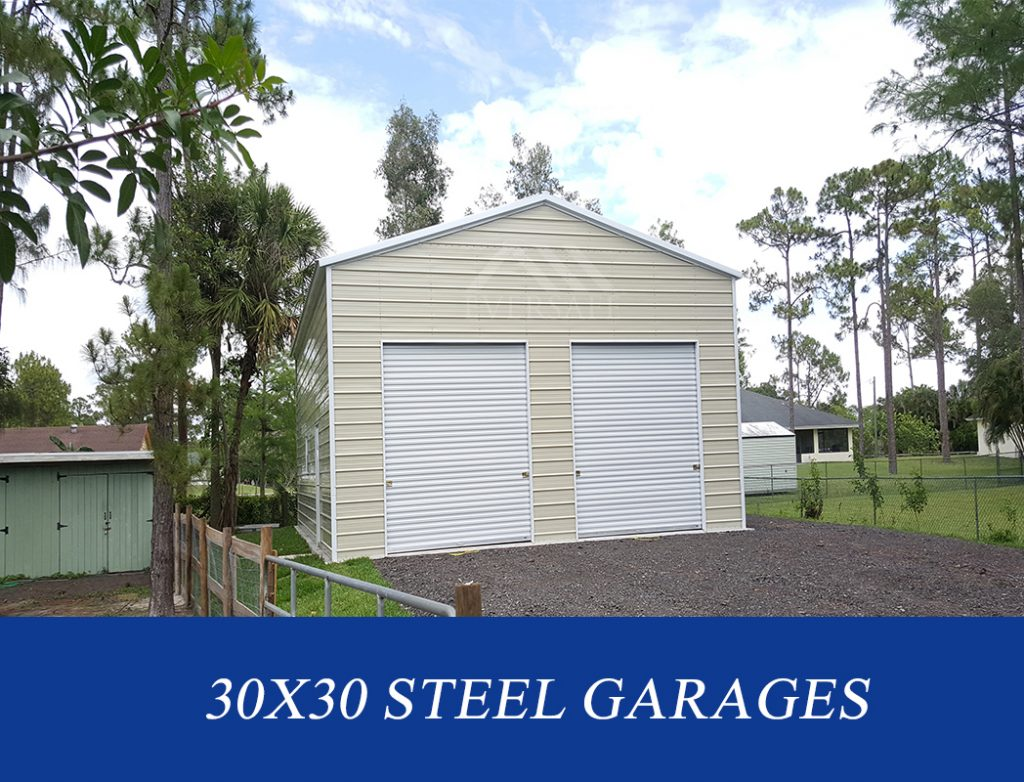 30x30 steel garage buildings
