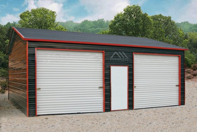 Black Prefab Garage