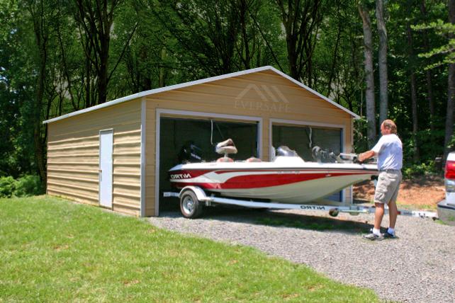 prefabricated boat storage building
