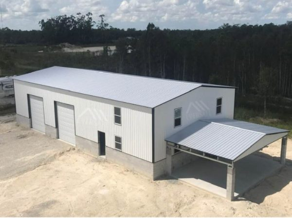 Custom Steel Building on Concrete Wall