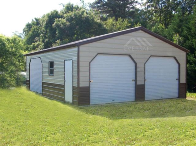 Two toned Steel Garage