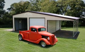 Metal Garage with Lean To
