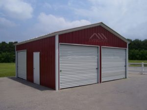 Red Garage Building