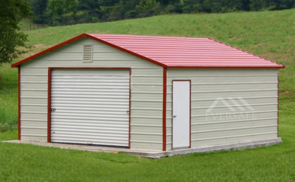 Red Metal Garage Kit