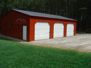 Red Prefab Garage