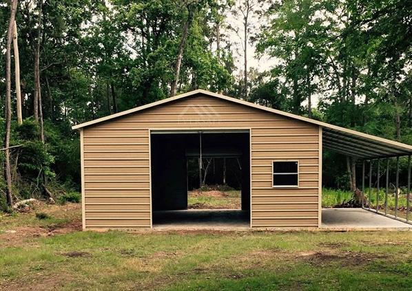 Garage Workshop with lean to