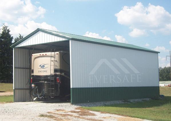 Enclosed RV Garage