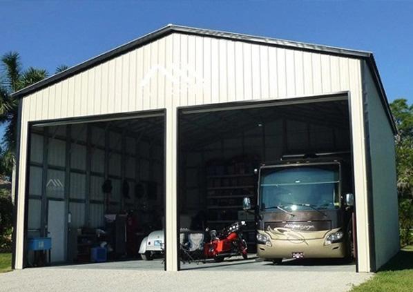 Large Span RV Garage