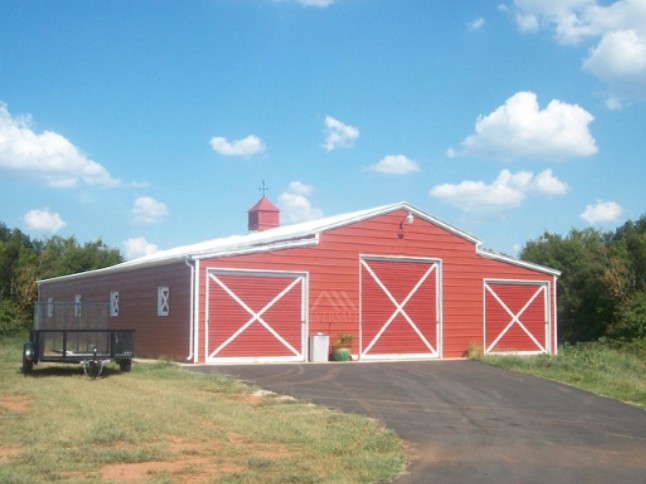Red and White Monitor Barn