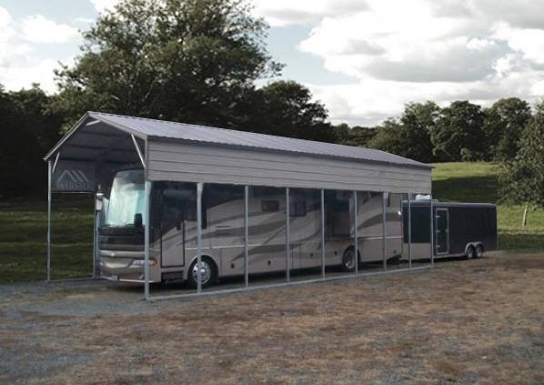 RV Carport with Vertical Roof